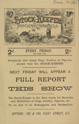 Advert for the Stock Keeper and Fancier's Chronicle